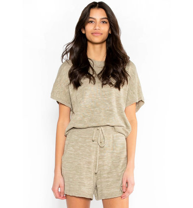 HAPPY DAYS OLIVE KNIT TOP