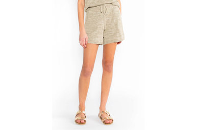 HAPPY DAYS OLIVE KNIT SHORTS
