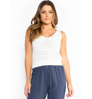 ON THE PATIO KNIT TANK TOP