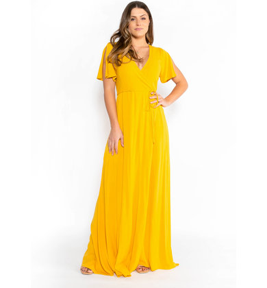 ENDLESS FUN DRESS - MUSTARD