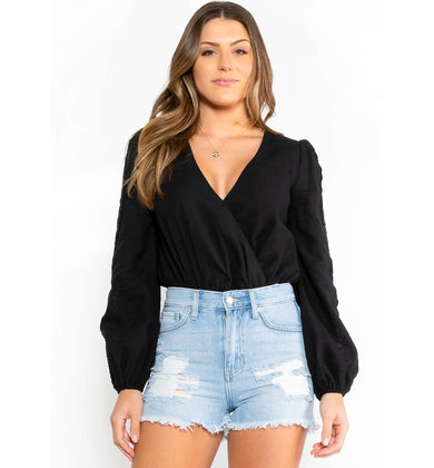 REFRESHING LOVE BODYSUIT - BLACK