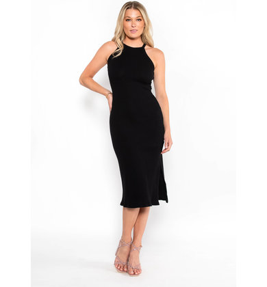 MCKINNEY MIDI DRESS - BLACK