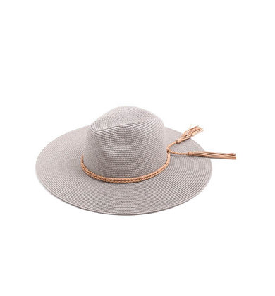 PHOEBE STRAW HAT - GREY