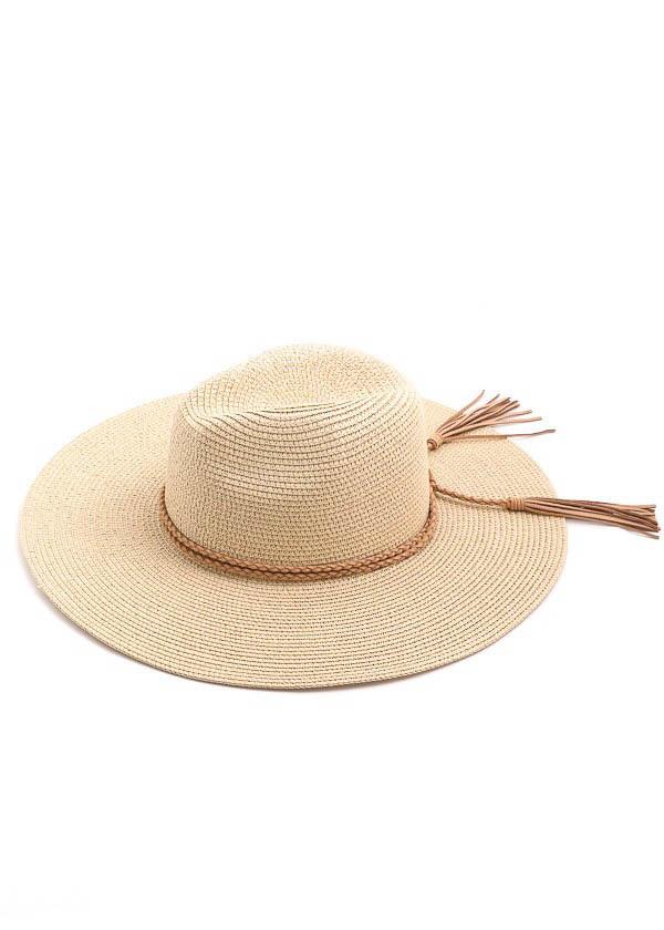 PHOEBE STRAW HAT - IVORY