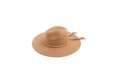 PHOEBE STRAW HAT - TAN