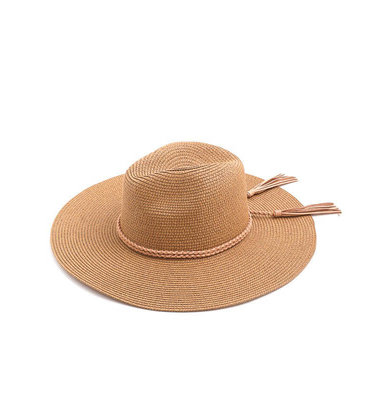 PHOEBE STRAW HAT - TAN