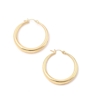 SIMPLE DESIRES GOLD HOOPS