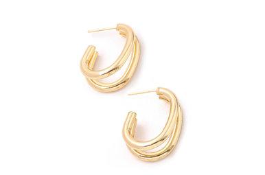 VIEWPOINT HOOP EARRINGS