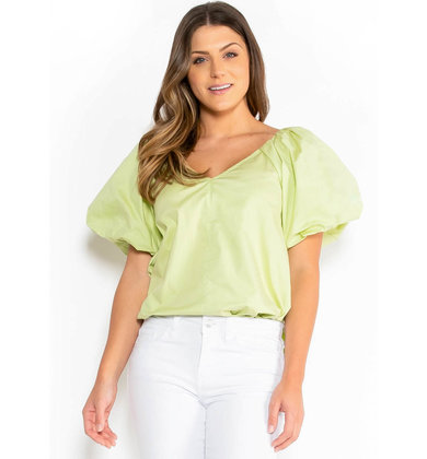 STATE OF STYLE BLOUSE - GREEN