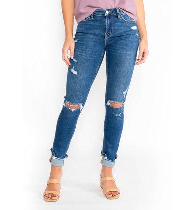 BACKSTREETS DISTRESSED JEANS