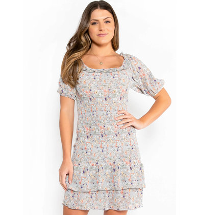 ADLEY PRINTED DRESS - BLUE