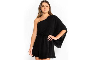 GLAMOROUS GLANCE DRESS - BLACK