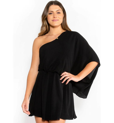 GLAMOROUS GLANCE DRESS - BLACK