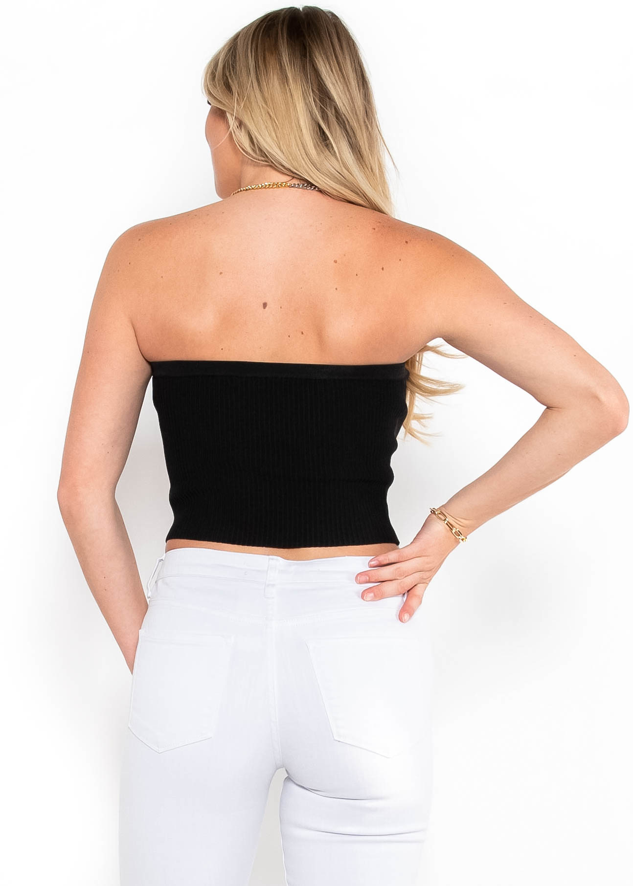 WILD CONNECTIONS RIBBED TUBE TOP