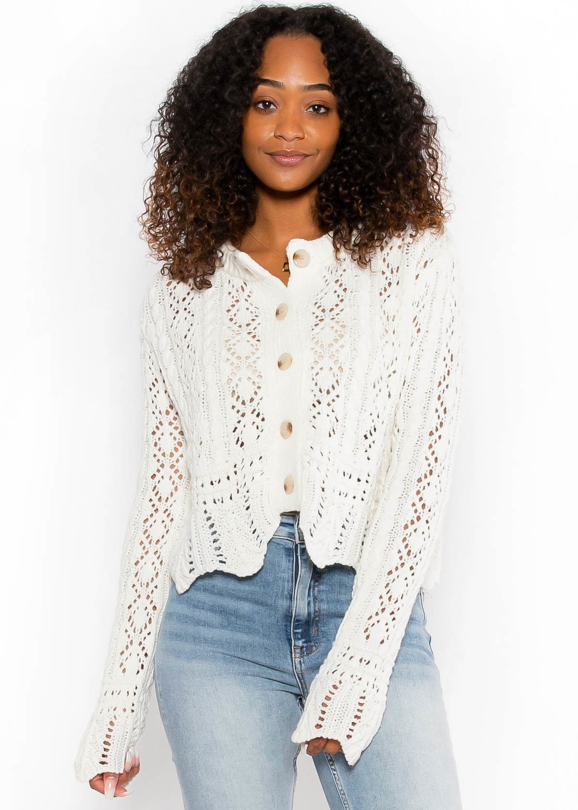 LOST FOR WORDS CARDIGAN
