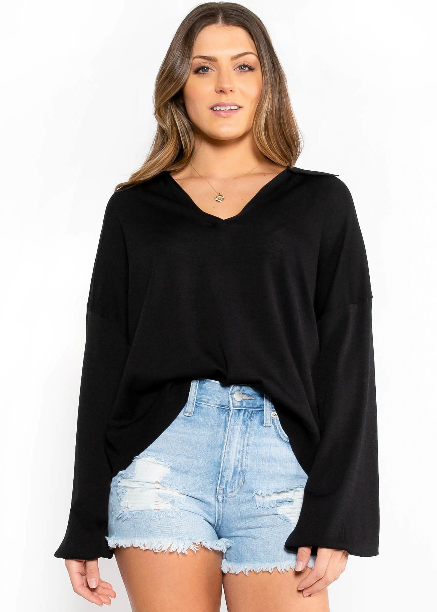 PAST OR PRESENT LIGHTWEIGHT SWEATER