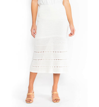 ROSALYN CROCHET MIDI SKIRT