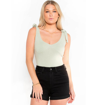 READY SET SPRING SAGE BODYSUIT