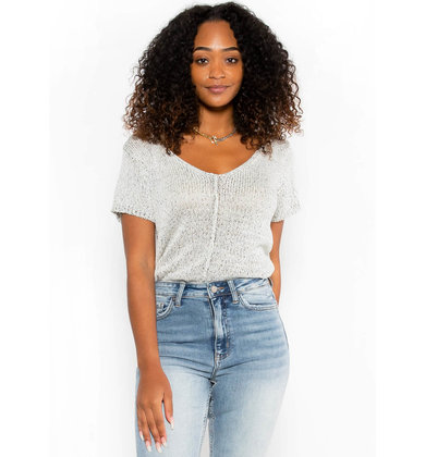 HEAD IN THE CLOUDS KNIT TOP