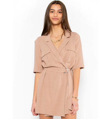FOUND THE ONE TAUPE DRESS