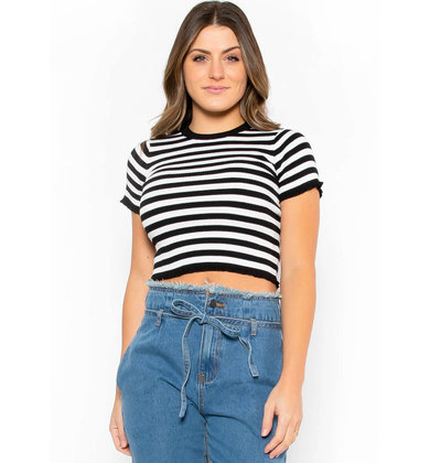 SHAKE IT OFF STRIPED CROP TOP