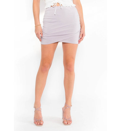APRIL IN PARIS RUCHED SKIRT