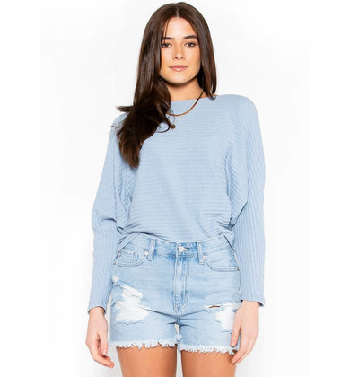 SEEKING SPRING BLUE SWEATER
