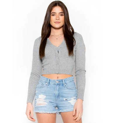JUST ADMIT IT CROPPED CARDIGAN