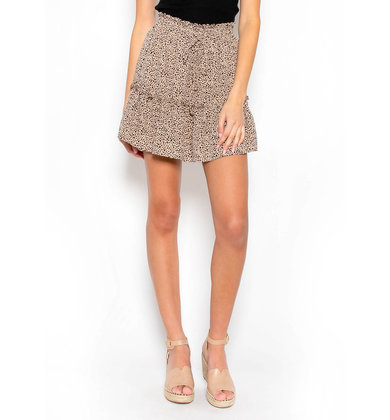 EYE FOR DETAIL LEOPARD SKIRT