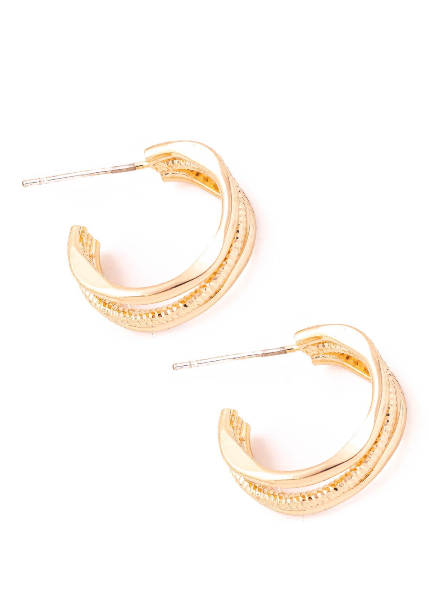 ANZA GOLD HOOP EARRINGS