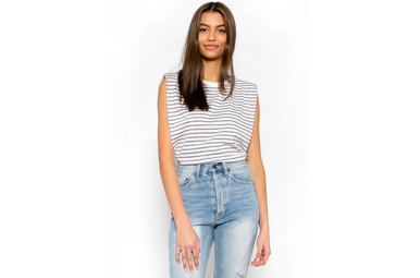 COME AWAY WITH ME STRIPED TOP