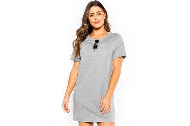UPCYCLE GREY T-SHIRT DRESS