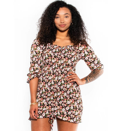 SPIRIT IN THE NIGHT FLORAL DRESS