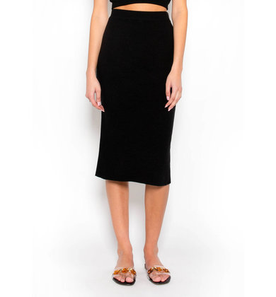 DESIGN DRIVEN KNIT MIDI SKIRT