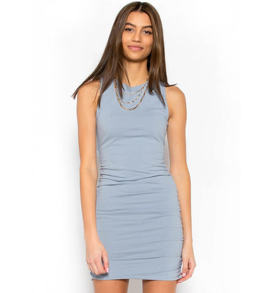 RAINFALL RUCHED BODYCON DRESS