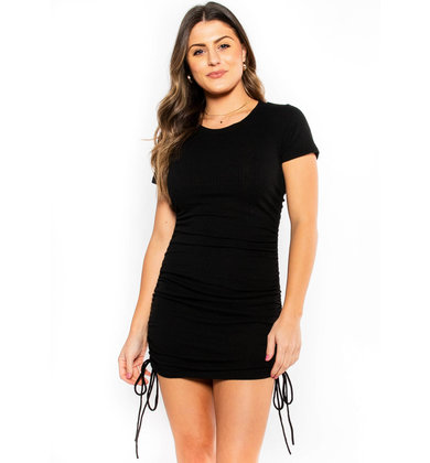 DON'T THINK TWICE RUCHED DRESS