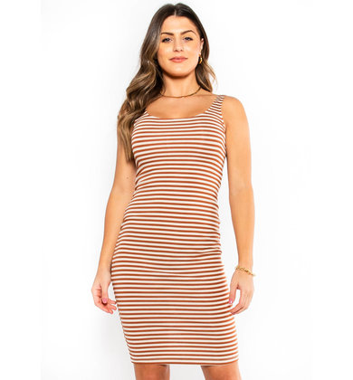 JUST FOR YOU STRIPED DRESS