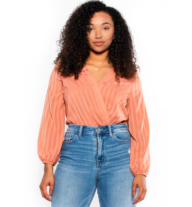 LIFE IN COLOR BODYSUIT - PEACH