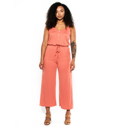 ROSEBUD RIBBED JUMPSUIT