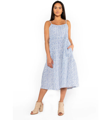 EARLY BLOSSOMS MIDI DRESS