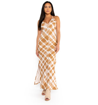 ICED COFFEE TIE DYE MAXI DRESS