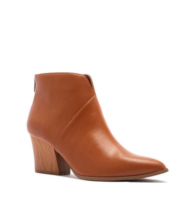 LEADING STEP BOOTIES - COGNAC