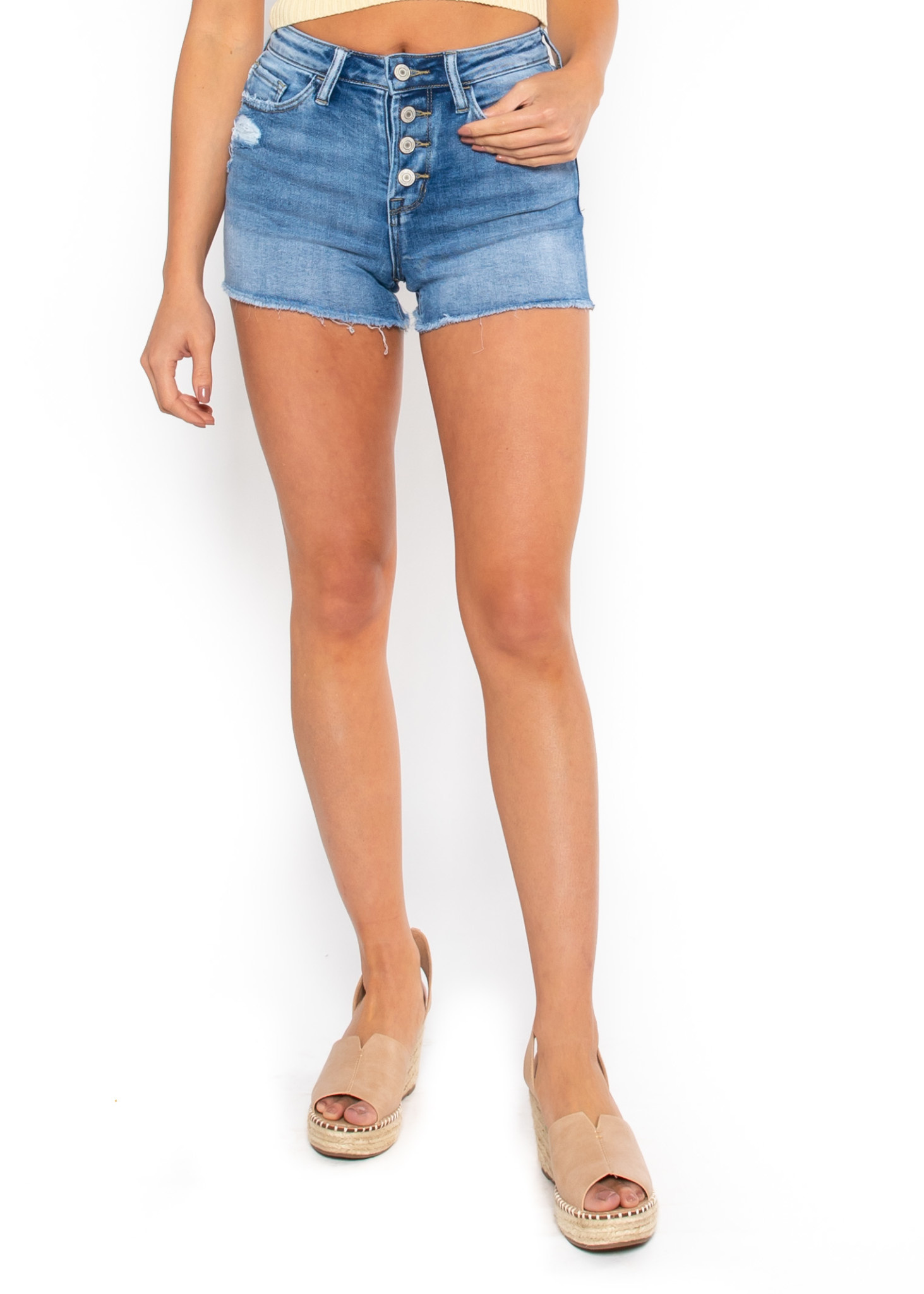 RIVERSIDE BUTTON FLY SHORTS