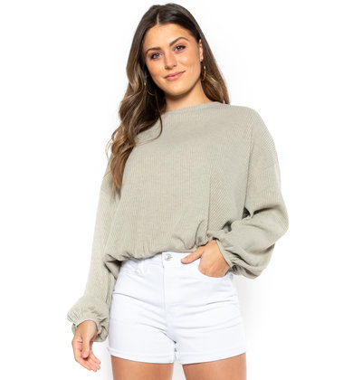 SO UNREAL SWEATER - OLIVE