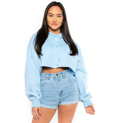 WILD BLUE CROPPED SWEATSHIRT