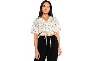 IN A TRANCE PRINTED BLOUSE