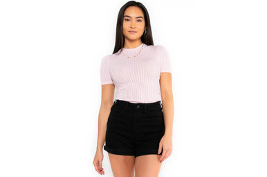 SPRING FLING FITTED TOP - PINK