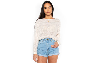 SWEET + CHIC SWEATER - IVORY