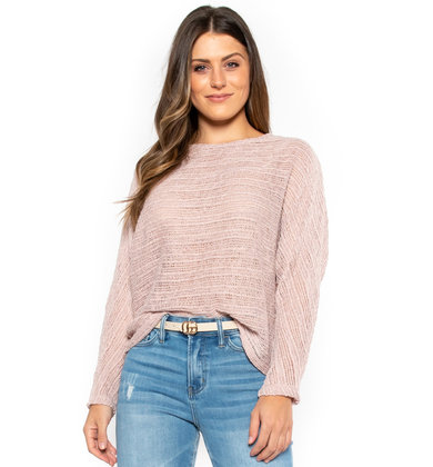 SWEET + CHIC SWEATER - MAUVE