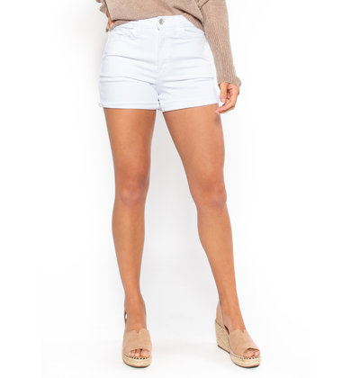 SUN CITY WHITE DENIM SHORTS